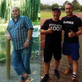 """""""Als ich Patrick getroffen habe, hatte ich ein Körpergewicht von 120kg. Er hat mich überzeugt, dass man mit dem Sport abnehmen und seinen eigenen Körper in Ordnung bringen kann. Patrick hat mir alle Ausführungen beigebracht und mich dabei ständig betreut und motiviert, sodass ich durch seine Hilfe in einem Jahr 36kg abgenommen habe. Patrick ist freundlich, nett, hilfsbereit und hatte immer Zeit für mich. Er ist für mich mehr als nur ein Trainer geworden, er ist mein Freund."""""""